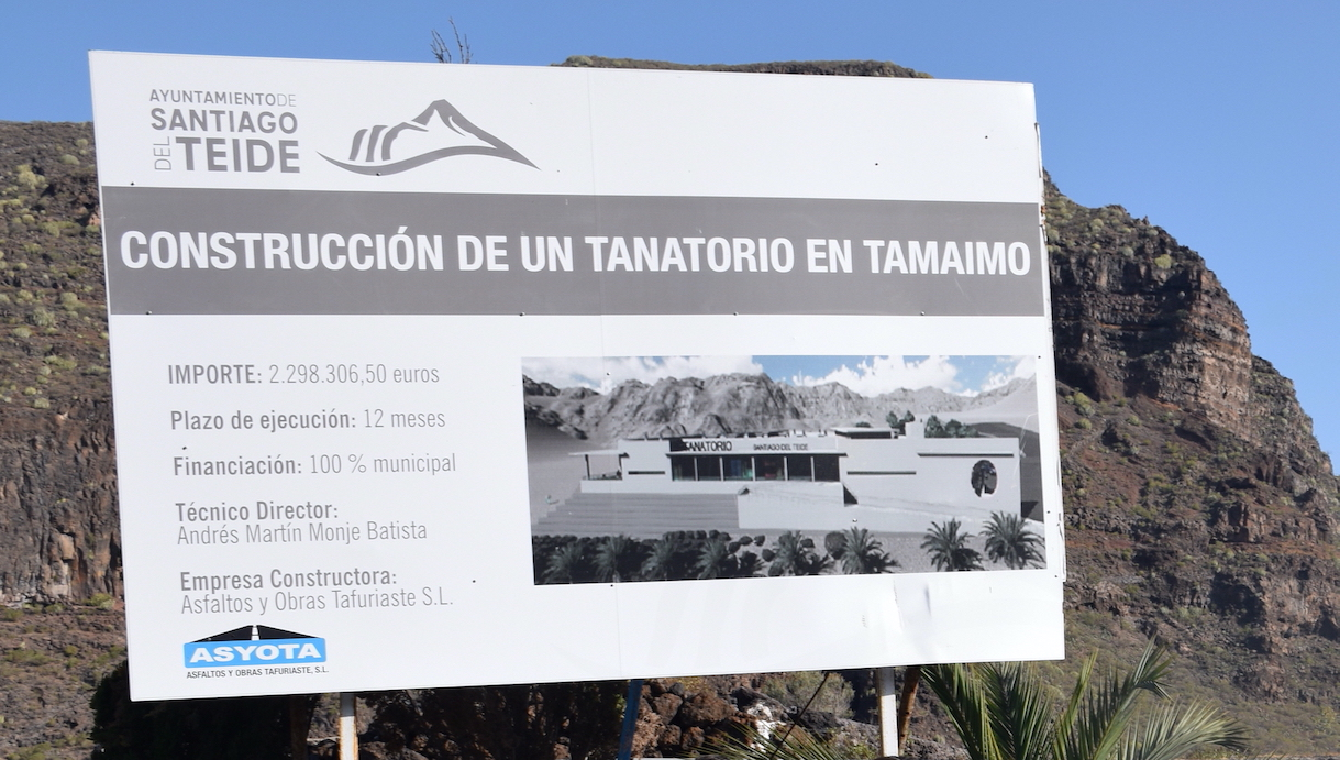 Esquelas.es | El alcalde de Santiago del Teide ha firmado el acta de replanteo para iniciar las obras del futuro tanatorio